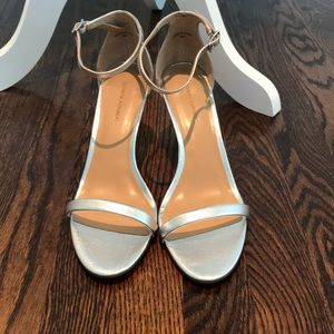Banana Republic sliver leather strappy sandal